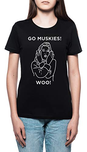 04a14365d Go Muskies! - Drop Dead Gorgeous Mujer Camiseta Cuello Redondo Negro Manga  Corta Tamaño XXL