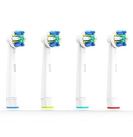 Floss Action Ersatzbürsten kompatibel mit Oral-B elektrischen Zahnbürsten. Ersatz für EB25 Oral-B Tiefenreinigung Aufsteckbürsten. Voll kompatibel mit Oral-B Vitality, Professional Care und anderen elektrischen Zahnbürsten. Ersatzbürsten von CARETIST