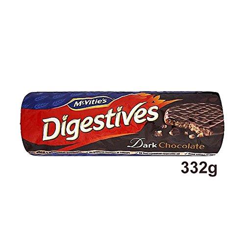 McVitie's Digestives Dark Chocolate 332g - mit Zartbitterschokolade