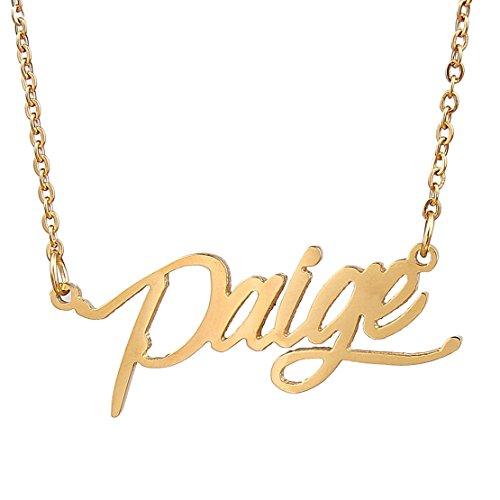 Paige Premium Denim (AOLOSHOW Initiale Name Halskette Best friends Halskette Beziehung Halskette Freundschaft Schmuck)