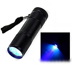 UV Black Flashlight - 9 LED Ultraviolet UV Flashlight for Pet Stains - Cat Stain Detector, Dog Stain Detector - Find Stains on Carpet, Rugs, and Furniture by Idefair
