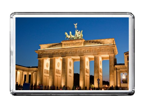 BRANDENBURG GATE - BERLIN, GERMANY, PRUSSIA, SOUVENIR - FRIDGE