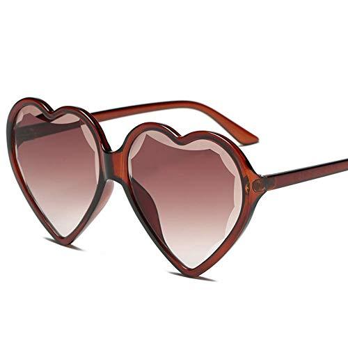 YHEGV Herz-Sonnenbrille-Frauen-Herz-geformte Sonnenbrille-Retro Liebes-Gläser-Damen-Steigungs-Sonnenbrille Uv400 Oculos