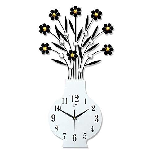 GYNMR Kreative Uhr Europäischen Stil Moderne Einfache Kreative Persönlichkeit Vase Wanduhr Stumm Dekoration Geschenk Geben Studie Schlafzimmer Wohnzimmer Eingang Kinderzimmer Polaris Vasen