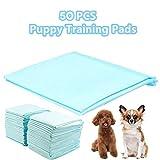 Homgrace 50 Unidades Empapadores de Entrenamiento para Perros Gatos Toallitas de Mascotas 60 x 45 CM