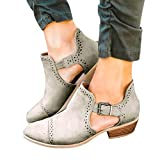 LILICAT_Bekleidung Schuhe High Heels Damen Mode Frühling Sommer Einzelne Schuhe Damen Runde Zehenschuhe Hohl Booties Bequeme Pumps mit Blockabsatz und Fesselriemchen High Heel Sandale
