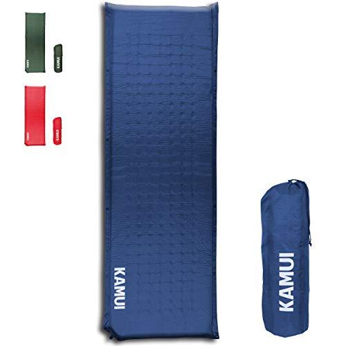 KAMUI selbstaufblasende isomatte, selbstaufblasbare isomatte, 5cm dick - Mehrere Matten kombinierbar, geeignet als Campingunterlage (Blau)