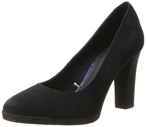 Tommy Hilfiger Damen N1285ANNI 1B Pumps, Blau (Midnight), 38 EU