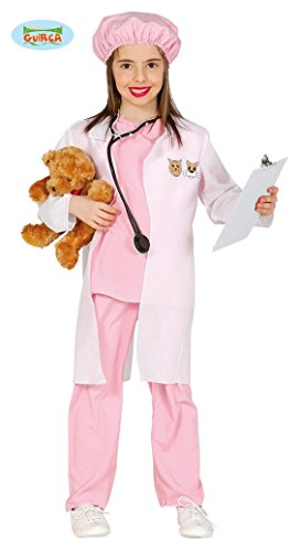 Tierpfleger Kostüme (KINDERKOSTÜM - TIERÄRZTIN - Größe 95-100 cm ( 3-4 Jahre ), Tierpfleger Tierlieb Veterinärin Hund Katze Mädchen)