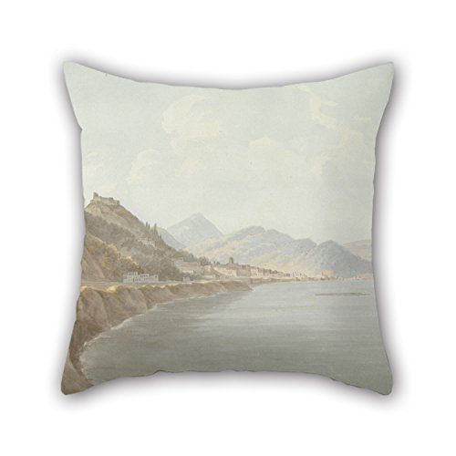 Slimmingpiggy 16 X 16 Inches / 40 By 40 Cm Oil Painting John Warwick Smith - Salerno Throw Pillow Case ,two Sides Ornament And Gift To Shop,kitchen,home Theater,living Room,club,gf