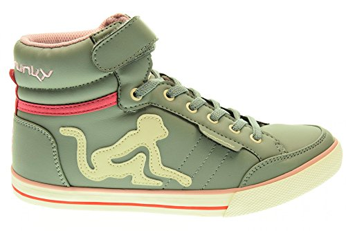 DRUNKNMUNKY Turnschuhe Teenager hohe BOSTON CLASSIC 201 GREY Grigio
