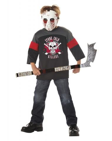 Deluxe Child M (8-10) Blood Sport Costume with Hockey Stick Halloween Fancy (Kostüme Sport Kinder Blood)