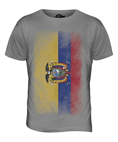 CandyMix Ecuador Verblichen Flagge Herren T Shirt Hellgrau