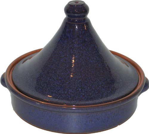 Amazing-Cookware-Tajn-de-20-cm-una-maravillosa-pieza-de-cocina-de-terracota-Azul-Reactivo