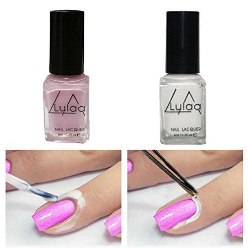 Generic Peel Off Liquid Nail Art Latex Tape Finger Skin Protected Palisade Easy Clean Base Coat Care YC38 H22 (White, LALIHKE122677)