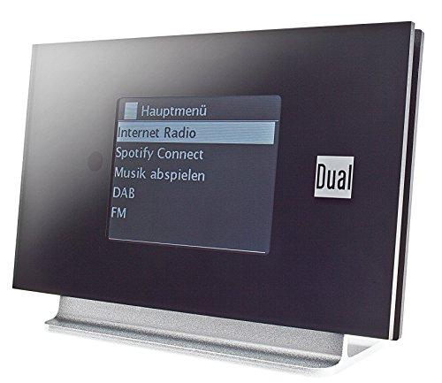 Dual Internet Radio-Adapter Radio Station IR 3A Bluetooth® DLNA-fähig, Spotify Schwarz, Silber