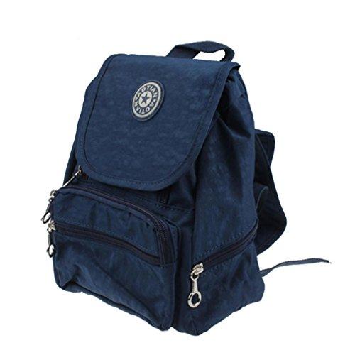Rucksack Rcool Nylon Freizeit RRucksack Schulschultasche Wandertasche Schultasche (Marineblau)