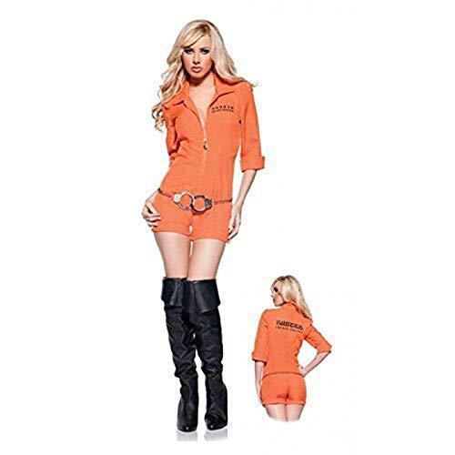 (GHLLSAL Neue Sexy Erwachsene Weibliche Gefangene Cosplay Halloween Kostüm Polizistin Uniform Versuchung Spielen Kleidung Party Kleidung, Eine Größe)