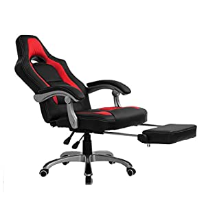 415%2Boq8UfYL. SS300  - CTF Racing Sport Reclining High Back Swivel Chair with Foot Stool
