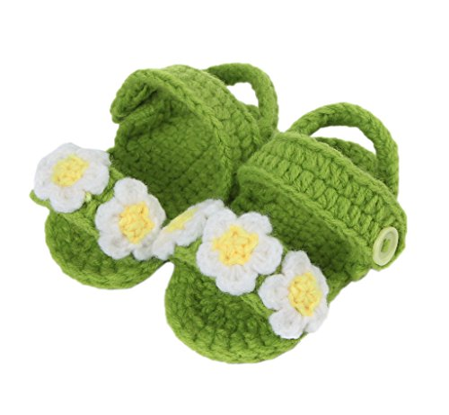 Flor Tricô tm De X 11 One Padrão Bigood Lírio Tricô Unisex Branco Verde Bebê Doce 1 Sapato De Par Size De Centímetros Sapatos qAFwqId0Tx
