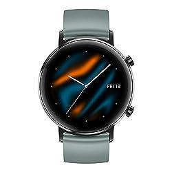 HUAWEI Watch GT2 42mm Sport Smartwatch, schwarz, Armband: Lake Cyan