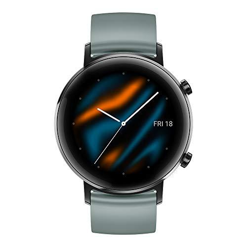 Huawei Watch GT 2 Sport - Smartwatch con Caja de 42 mm, 1 Semanas de Uso, Pantalla Táctil AMOLED de 1.2', GPS, 15 Modos Deportivos, Pantalla 3D de Cristal, Monitorización Cardíaca, Color Lake Cyan