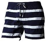 Lacoste MH4762 Uomo Pantaloncini,Uomini Bicchierini della Spiaggia,Pantaloni di Nuoto,Navy Blue/White(525),Medium (M)