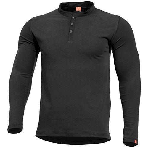 Pentagon Henley Shirt Romeo Schwarz