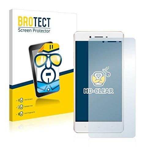 BROTECT Schutzfolie kompatibel mit Oppo F1 [2er Pack] klare Bildschirmschutz-Folie