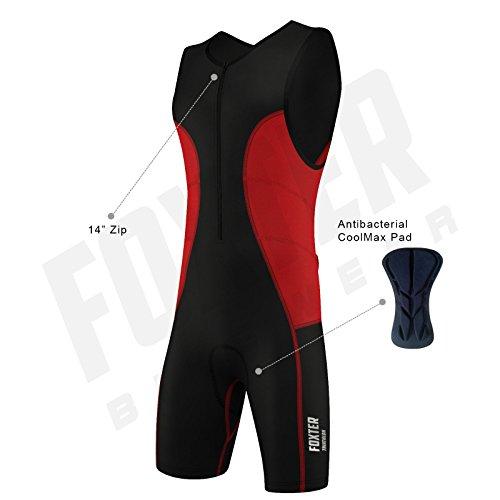 Triathlon-Anzug für Herren, Kompressionsanzug, rot, M
