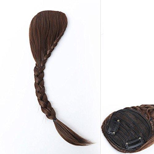 Geflochtene Pony/Unsichtbare Perücken knallt ohne Mark/schräg Pony Kopf (Kostüm Pimp C)