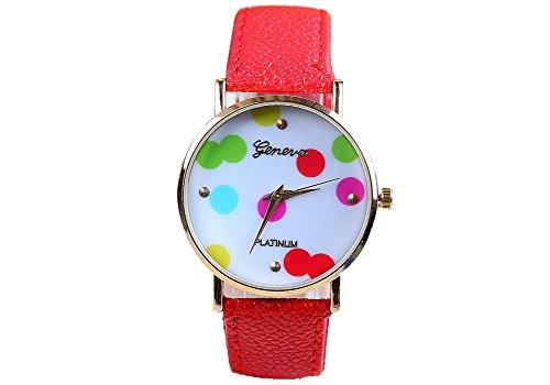 Geneva Geneva Platinum Dots - Reloj color rojo