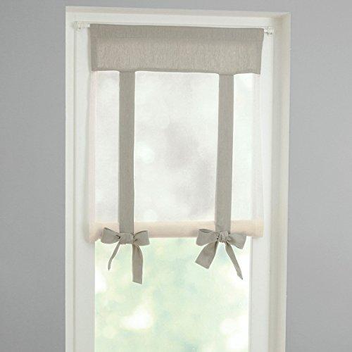 La redoute interieurs tenda bicolore passa asta luiza taglia 140 x 60 cm grigio