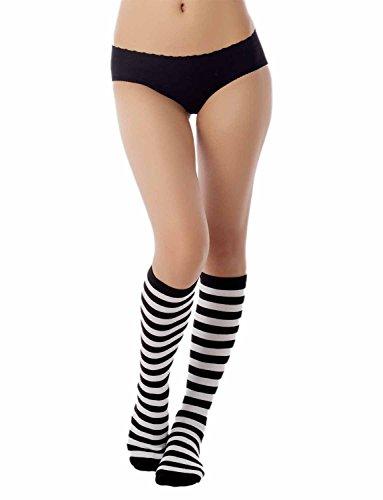 IB-iP Mujer Zebra franja colores caramelo largo rodilla