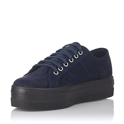 Victoria Blucher Antelina Plataforma, Sneaker Donna Bleu Marine