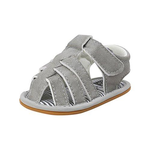 Monkey Scrubs (Für 3-18 Monate, Auxma Baby Jungen Sandalen Kleinkind Scrub erste Wanderer Kinder Schuhe (6-12 M, Grau))