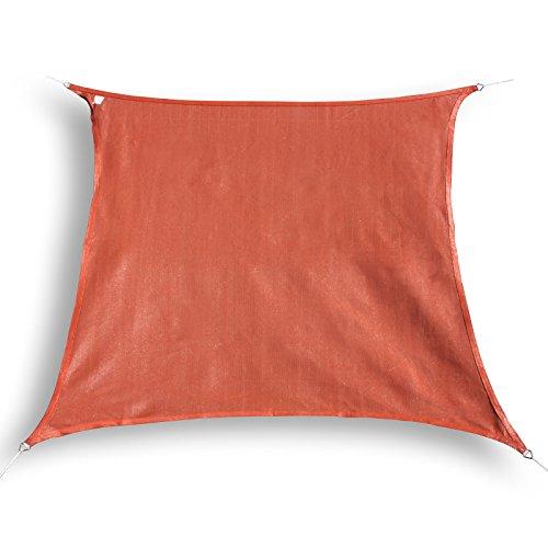 Hanse® Marken Voile d'ombrage Protection Solaire Voile carré 4,5 x 4,5 m terra