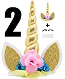Koshi Unicorn Cake Party Decoration Value Set para Baby Shower y Birthday Party (Paquete de 2)...
