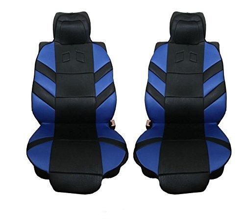 2x Vordere Blaue Sitzauflagen Auto Sitzaufleger PKW Sitzschutz Neu Hochwertig OVP Blau/Schwarz Auflage