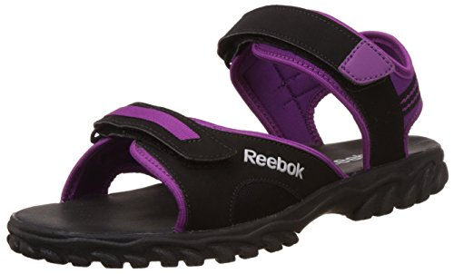 Reebok Unisex Adventure Chrome Black,Purple And Silver Sandals And Floaters - 7.5 UK  available at amazon for Rs.799
