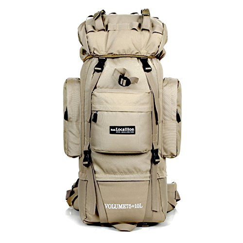 Super Kapazität Trekking Rucksack Multifunktions Rucksack Camping Travel Backpack Tactical Outdoor Bag Bergsteigen Klettern Rucksack Wasser Widerstand Laptop Tasche Khaki