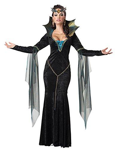 Dunkle Magierin Hexe Zauberin Halloween Damenkostüm schwarz blau XL