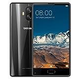Smartphone Libre, DOOGEE Mix Lite Moviles Baratos 4G Dual SIM, Pantalla DE 5.2 Pulgadas HD IPS, 2 GB de RAM, 16 GB, MT6737 Quad Core Android 7.0, Cámara Trasera Doble de 13 MP, Huella Digital - Negro