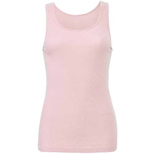 2x1 rib tank top Bella Canvas Streetwear Canotta Donna Pink