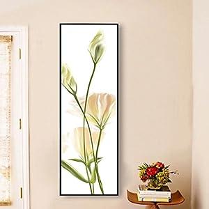 """JIALELE Illustrazione botanica Wall Art,in lega di alluminio con materiale di telaio per decorazione Home Arte telaio Soggiorno piscina,16"""" x 48"""" (40cm x 120cm),Oliva scuro"""