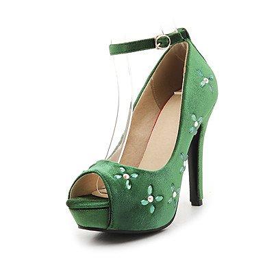 LvYuan Sandali-Formale Casual Serata e festa-Innovativo Club Shoes-A stiletto-Felpato-Nero Verde Rosso Black