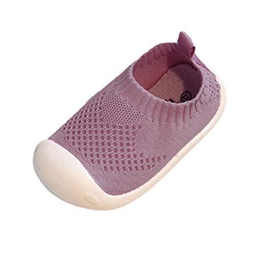 EUCoo_kinder Baby bequeme Turnschuhe Unisex Candy Farbe Flying Weave Mesh Stretch Freizeitschuhe Kinderschuhe(Rosa, 18)