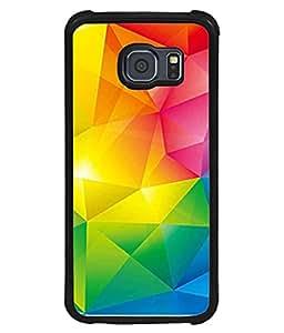 PrintVisa Designer Back Case Cover for Samsung Galaxy S6 Edge :: Samsung Galaxy S6 Edge G925 :: Samsung Galaxy S6 Edge G925I G9250 G925A G925F G925Fq G925K G925L G925S G925T (Texture Illustration Background Backcase Pouch Graphics)