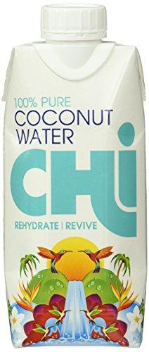 Kalorienarme Kokosnuss-wasser (Chi 100% Reines Kokosnuss Wasser (Pure Coconut Water) 330ml, 12er Pack (12 x 330 ml))