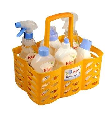 Klar Reiniger (Klar EcoSensitiv Starter Set 3.3 ohne Duft, vegan (Color Waschmittel, Spülmittel sensitive, Zitronensäure Kalklöser, Badreiniger, Glas & Oberflächen, WC Reiniger im Kunststoffkorb))